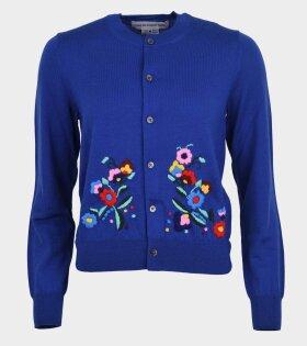 Comme des Garcons Girl - Floral Cardigan Blue