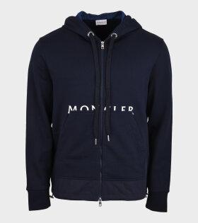 Moncler - Logo Zip Sweat Navy