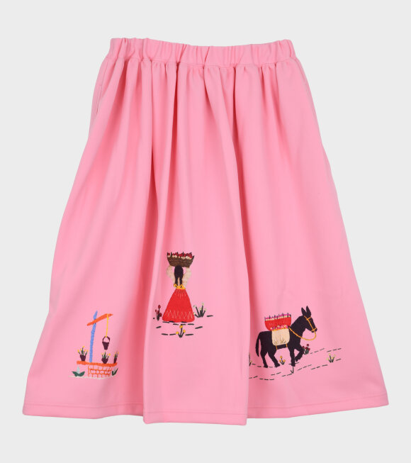 Comme des Garcons Girl - Printed Skirt Pink
