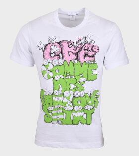 Comme des Garcons Shirt - Graffiti T-shirt White/Green