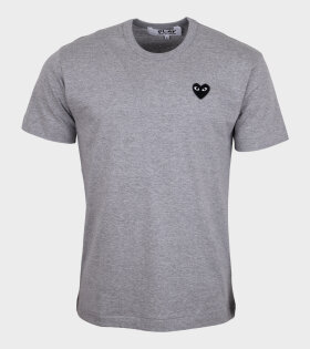 Comme des Garcons PLAY - M Black Heart T-shirt Grey