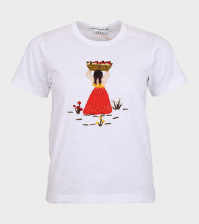 Comme des Garcons Girl - Printed T-shirt White