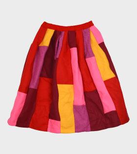 Comme des Garcons - Multicolour Skirt Red