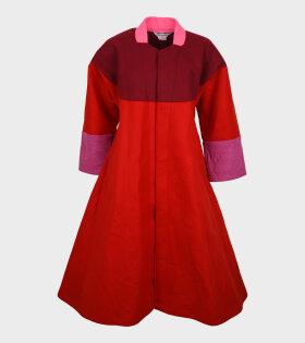 Comme des Garcons - A-Facon Coat Red