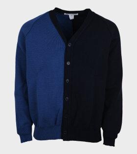Comme des Garcons Shirt - Contrast Cardigan Blue