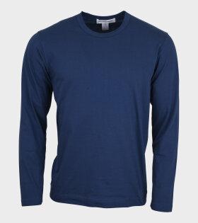 Comme des Garcons Shirt - Basic LS T-shirt Midnight Blue