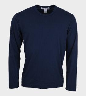 Comme des Garcons Shirt - Basic LS T-shirt Navy