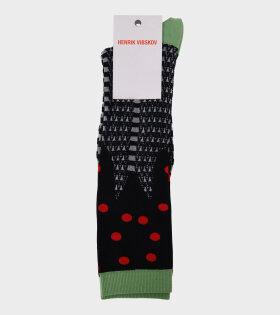 Cherry Pie Socks Femme Green/Black
