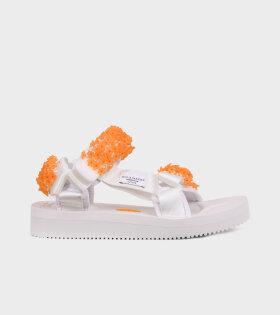 Maria Sandals White/Orange
