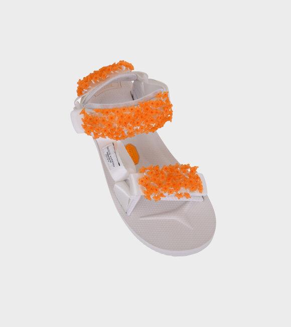 Cecilie Bahnsen - Maria Sandals White/Orange