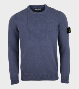 Stone Island - Embroidered Knit Blue
