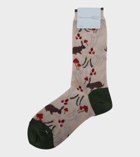 Autumn Crew Socks Ivory/Beige