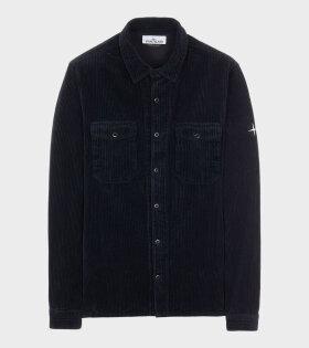 Stone Island - Cotton Corduroy Shirt Navy