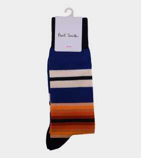 Striped Socks Blue/Orange