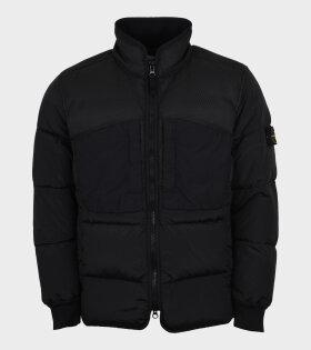 Modified Panama 6/3 HT Nylon Mix Fabrics Down-TC Jacket Black
