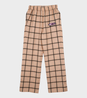 Paccbet - Checkered Pants Beige