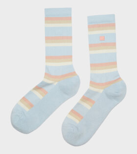 Face Logo Striped Socks Multicolour