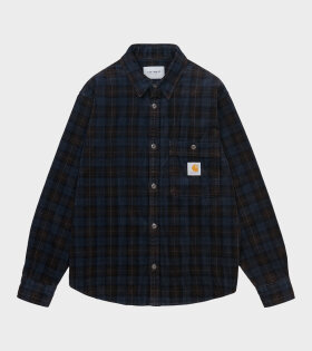 L/S Flint Check Shirt Navy/Brown