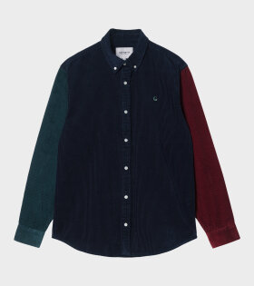 L/S Triple Madison Cord Shirt Multicolour