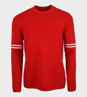 Striped Wool Knit Red/White