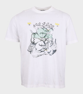 Box T-shirt Lucky Cherub Print White