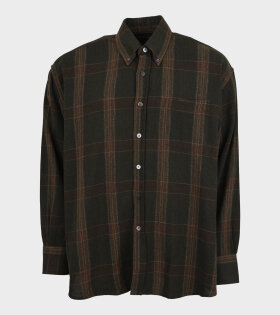 Borrowed BD Check Shirt Green