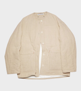 Acne Studios - Padded Linen Jacket Mushroom Beige
