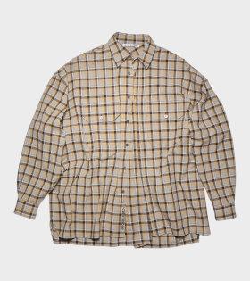 Acne Studios - Checked Shirt Brown/Grey