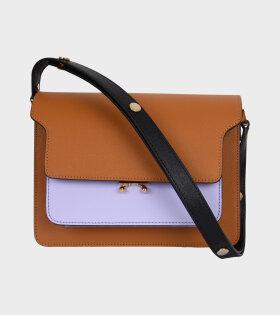 Medium Trunk Saffiano Bag Orange/Purple