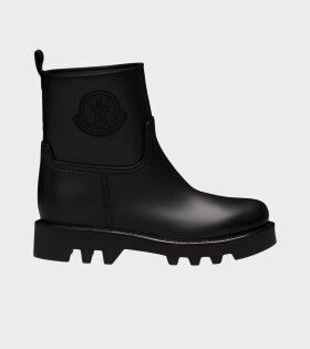 Ginette Rain Boots Logo Black