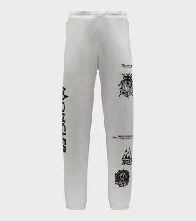 Moncler X 1952 - Pantalone Logo Pants White