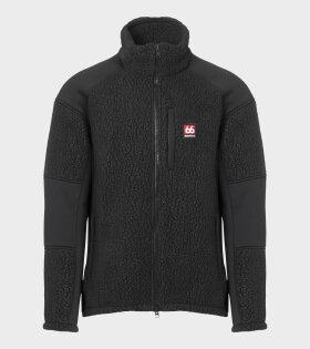 Tindur Shearling Fleece Jacket Black