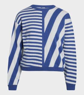 Mads Nørgaard  - Kalla Sweater Multi Princess Blue