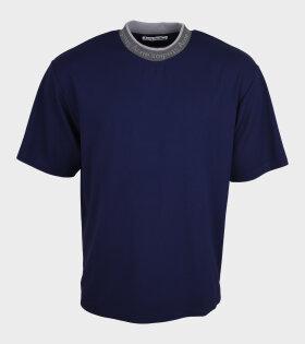 Logo Collar T-shirt Blue