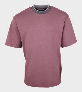 Logo Collar T-shirt Dusty Pink