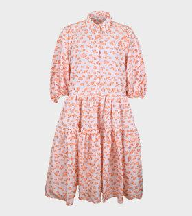 Amy Dress Orange/Pink/White
