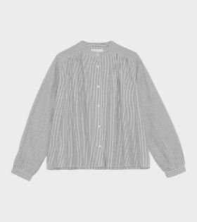 Skall Studio - Painter Shirt White/Grey Stripe
