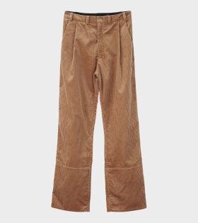 AF Agger - Corduroy Box Trousers Beige