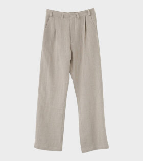 AF Agger - Linen Box Trousers Nature