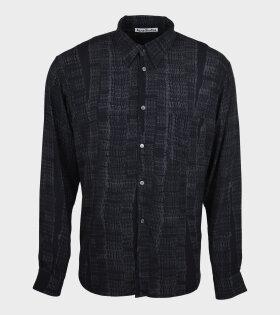 LS Shirt Logo print Black/Grey