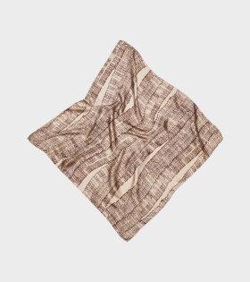 Light Silk Logo Scarf Brown/Beige