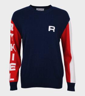Alyson Logo Knit Navy/Red