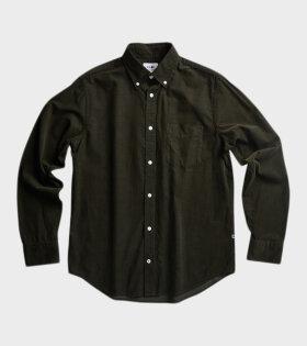 Levon Velvet Shirt Dark Green