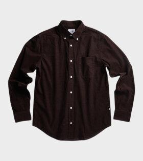 Levon Velvet Shirt Dark Wine