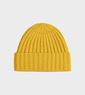 Plain Ribbed Hat Golden Eye