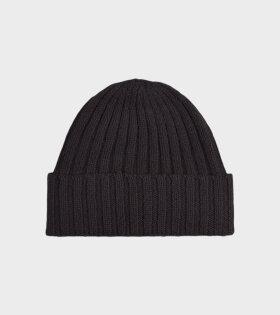 Jo Gordon - Plain Ribbed Hat Black