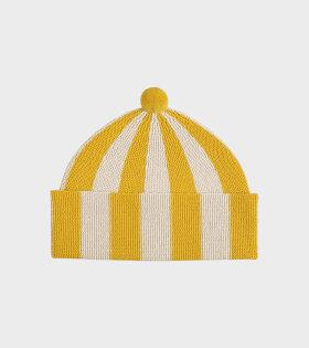 Jo Gordon - Vertical Stripe Hat Golden Eye/Oatmeal