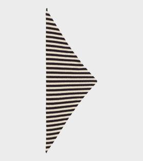 Jo Gordon - Striped Triangle Neckerchief Black/Oatmeal
