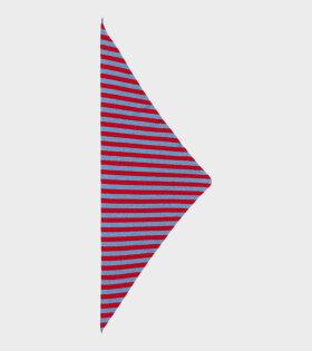Jo Gordon - Striped Triangle Neckerchief Fiji/Poppy