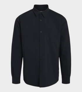 Mads Nørgaard  - Miro Wool Sinos Shirt Midnight